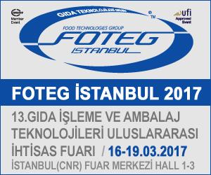 FOTEG İstanbul 16-19 Mart 2017 tarihleri arasında İstanbul (CNR) Fuar Merkezi'nde 13. Kez düzenleniyor.
