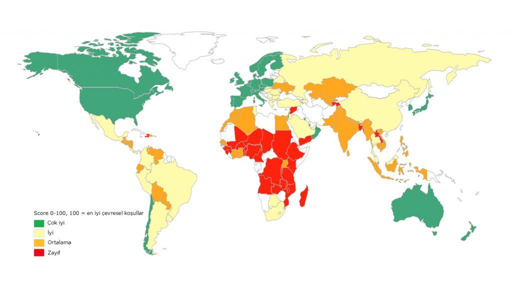 Küresel Gıda Güvenliği Endeksi 2017 sonuçlarına göre Türkiye, 113 ülke arasında 49. sırada yer aldı