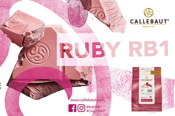 Ruby RB1 ile Callebaut®, ilk ruby çikolata reçetesini şeflere ve çikolata ustalarına sunuyor.