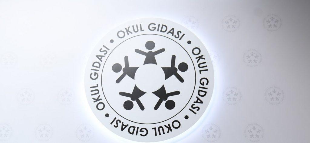 Okul kantininde gıda logosu