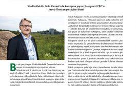 Sürdürülebilir Gıda Zirvesi'nde konuşma yapan Palsgaard CEO'su Jacob Thoisen şu sözleri iletti: