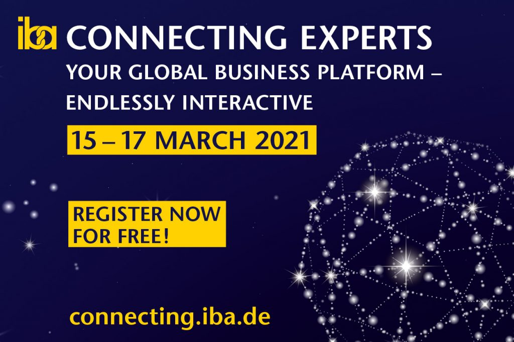 15-17 Mart 2021 Almanya Iba için detaylar connecting.iba.de adresinde