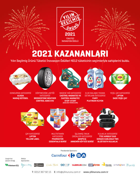 Yılın Seçilmiş Ürünü 2021 Kazananları
