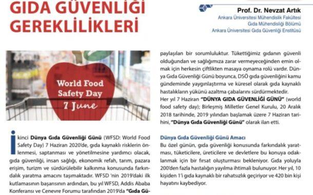 Dünya Gıda Güvenliği Gününde Gıda Güvenliği Gereklilikleri